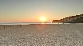 Nazare strand vanaf boulevard