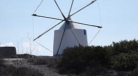 Wandelen langs de oude windmolens